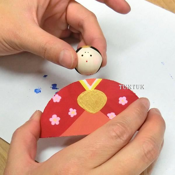 すべての折り紙 節分の折り紙 : 木のおひなさま(5人分セット ...